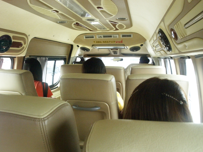 Dentro de la Van