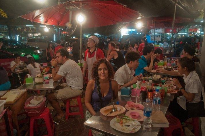 Después de cenar en el Barrio Chino